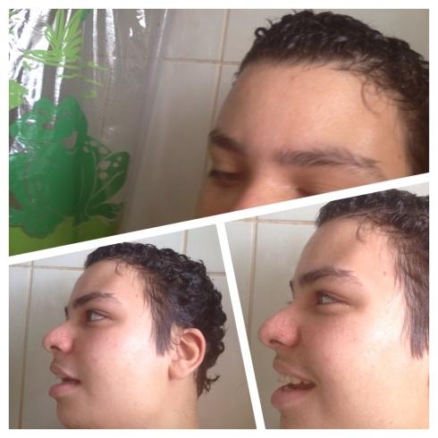 o banho é sempre feliz, ainda mais quando o Gilson está do outro lado da cortina fazendo palhaçada...