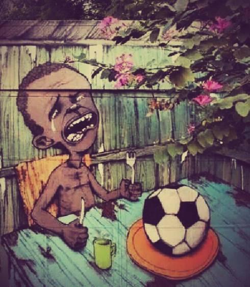 grafite de Paulo Ito, do Movimento de Decoração Anti-Copa